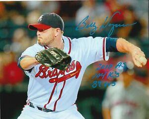 BILLY WAGNER SIGNED 8x10 PHOTO Atlanta Braves w/ 2010 Season Stats Inscription