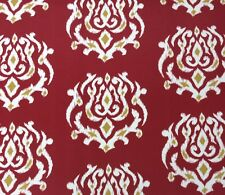 "RICHLOOM DAMASK RED FLORAL OUTDOOR FURNITURE CUSHION FABRIC 3.75 YARDS 54""W"