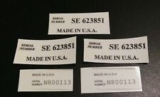 guitar headstock decal serial number made in USA set of 5