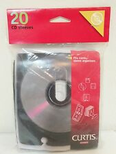 20 Curtis CD/DVD Sleeves - Fits Curtis Sleeve Organizers
