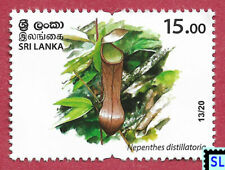 Sri Lanka Stamps 2020, Wild Species Threatened, Pitcher Plant, Nepenthes, MNH