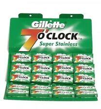 100 Gillette Cuchillas Superior Acero Platino Doble Filo Hojas de Afeitar Blades