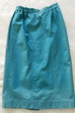 Womens Suede Pencil Skirt Vintage 6 Petite Teal Blue Lined Weathervane Washable