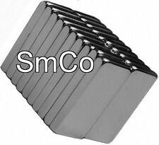 """1/2"""" x 1/4"""" x 1/16"""" Blocks - SmCo - Samarium Cobalt Rare Earth Magnet,"""