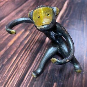 Walter Bosse Monkey Ring Holder Soviet Vintage Brass Figurine Mid Century Modern