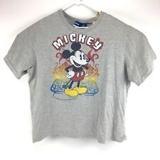 Vintage 90's Disney Mickey Mouse Womens T Shirt Size 2XL Grey