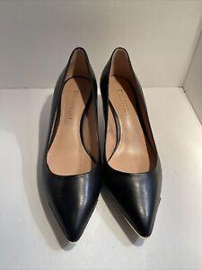 NWOB- Enzo Angiolini Eagrasyn Womens Black Leather Heels Size 7