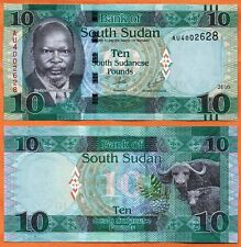 South Sudan 2016 Unc 10 South Sudanese Pounds Banknote 