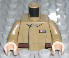 LEGO STAR WARS Dark Tan Torso Jacket Resistance Lieutenant Minifigure 75131