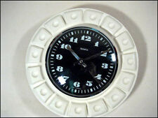 VTG Wand Uhr Geometric Pattern Space Age Wall Clock 60er 70er Jahre 60s 70s MCM