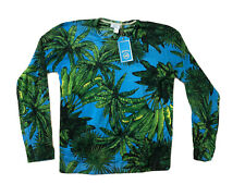 VERSACE for H&M MERINO WOOL CASHMERE Blend Palm print sweater pullover LARGE