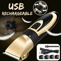 Electric Dog Clipper Comb Set Animal Hair Blade Cat Pet Grooming Horse CORDLESS