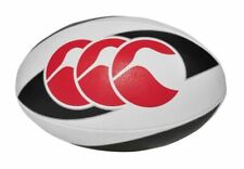 Rugby Ball Size 5 - Plain White Smooth Surface for Wet Weather Training