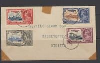 ST KITTS & NEVIS 1935 Silver Jubilee Omnibus First Day Cover