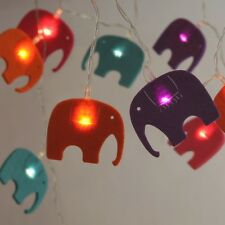 Elephant Felt LED Stringlights Battery Powered Fairy Lights