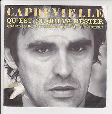 """Jean Patrick CAPDEVIELLE Vinyl 45T 7"""" QU'EST CE QUI VA RESTER -CBS 2489 F Reduit"""