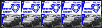MAZDA AUTO ICONS STRIP OF 10 VIGNETTE STAMPS, MAZDA RX4