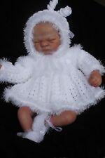 lillbees baby knitting pattern matinee coat, pants, bonnet booties  nb 0/3m  dk