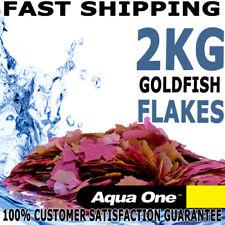 Aqua One Goldfish Koi Carp Aquarium Fish Tank Quality Flake Food Pond 2kg Fresh
