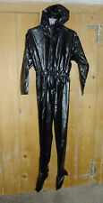 PVC-U-Like PVC Jump Suit Overall All in One Roleplay Black Plastic L Domme Vinyl