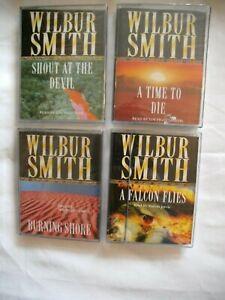 BUNDLE WILBUR SMITH AUDIO BOOK CASSETTE TAPES