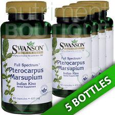 Swanson Full Spectrum Pterocarpus Marsupium 400mg 5X60Caps Indian kino heartwood