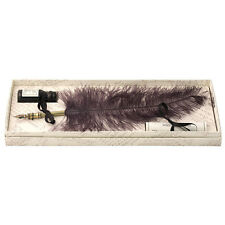 Calligraphy Set, Black Ostrich Feather Quill & Ink Set, Great Gift (7240BK)