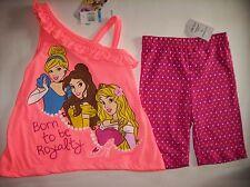 Disney Princess Outfit 2pc Biker Short Set Size 5 NWT
