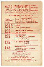 1941 Polo Grounds Macys Fathers Day sports  Parade Program vintage original