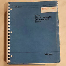 tektronix 2230 digital oscilloscope technical & service manual  large dated 1987