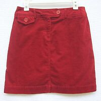 Harold's Women's Size 6 Red Corduroy Knee Length Straight Pencil Skirt Stretch