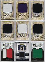 Game Used Jersey Swatch Cards - Choose From List In The Game ITG Anthology NHL