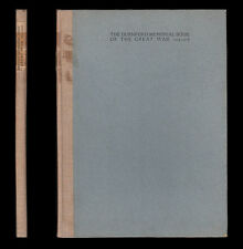 DURNFORD MEMORIAL BOOK OF THE GREAT WAR 1914-1918  53 Biographies Masters Pupils