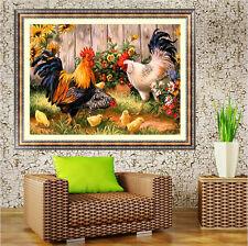 5D Diamond Painting DIY Farm Chicken Coop Cross Stitch  Painting Embroidery .AuA