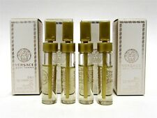 Versace Pour Femme Eau de Parfum EDP Splash Sample Vial .05 oz 1.5 ml x 4 PCS