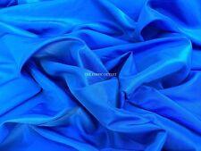 ELECTRIC BLUE TAFFETA PROM/ WEDDING/ BRIDAL DRESS FABRIC MATERIAL 150CMS  WIDE