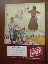 1950s Vintage Original Magazine Ad Time Out For Schlitz Beer Painting