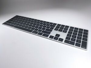 EXCLUSIVE!  2019 Apple Mac Pro Magic Keyboard, silver with black keys  RARE!