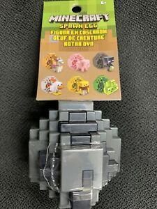 Minecraft Spawn Egg Mini Figure ~ GREY & BLACK EGG ~ FREE USA SHIPPING!