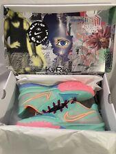 Nike Kyrie 4 Low Keep Sue Fresh Shoes CW3985 300 Green Glow Atomic Orange Sz 15