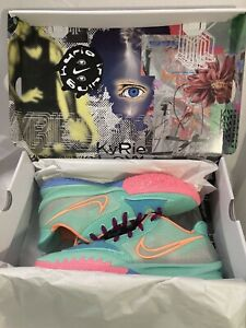 Nike Kyrie 4 Low Keep Sue Fresh Shoes CW3985 300 Green Glow Atomic Orange Sz 9.5