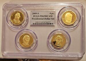 2009-S Presidential 4 Coin Dollar Set - PCGS PR69DCAM