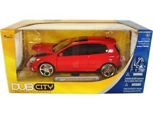 WOW EXTREMELY RARE Volkswagen Golf Mk.5 GTi Tuning 2007 Red 1:24 Jada