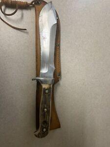 Puma White Hunter 6377 Genuine Pumaster Steel Germany Knife & Leather Sheath