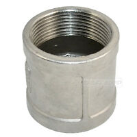 """1-1/2""""Female x 1-1/2""""Female Couple Stainless Steel 304 Threaded Pipe Fitting NPT"""