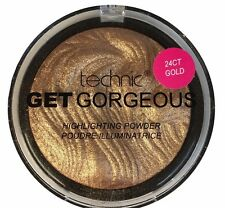 Technic Get Gorgeous Highlighting Powder 24CT Gold Face Highlighter Shimmer