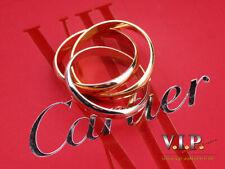CARTIER TRINITY RING 18K/750 TRICOLOR GOLD BAGUE ANELLO SORTIJA+ORIGINAL BOX °53
