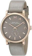 Marc Jacobs Women's Rose Gold-Tone S. Steel Gravel Gray Leather Watch MBM1266