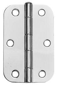Pinnacle LOOSE PIN RADIUS BUTT HINGES 90mm 20Pcs Chrome Plated *Australian Brand
