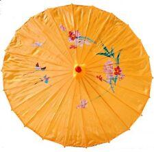 Handmade Bomboo Yellow Chinese Parasol